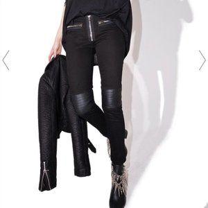 Dolls Kill Current Mood Low Rise Moto Jeans Pants